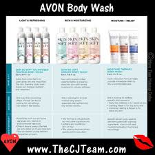 Avon Skin Care Chart Avon Body Wash Chart X More Than Makeup Online