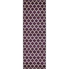 purple runner rugs geometric trellis ft x 8 rug carpet uk als hall purple runner rugs