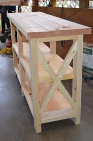 furniture do it yourself. Diy Furniture : DIY Furniture: X-Console Table | Do It Yourself Home Projects From Ana White. #D