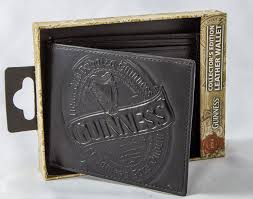 guinness black leather wallet