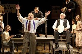 the globe s inherit the wind kpbs robert foxworth is henry drummond and adrian sparks is matthew brady in the g