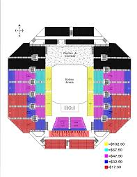 Thomas And Mack Seating Chart Pbr 55 Described Nfr Tickets Seating Chart