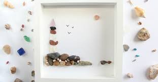 diy sea glass art with pebbles tutorial