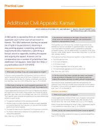 How To Write Petition Guide Interesting Additional Civil Appeals Kansas
