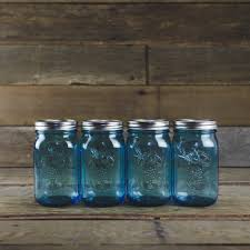 ball quart canning jars. ball elite blue wide mouth quart canning jars - set of 4 home supplies