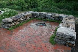 diy patio with fire pit. Interesting Fire Unique Brick Patio With Fire Pit 39 Diy Backyard Ideas  In A