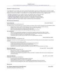 Receptionist Resume Example For Salon Office Eager World sample resume for  legal secretary cover letter samples