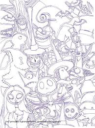 The Nightmare Before Christmas Coloring Pages Beautiful Www Coloring