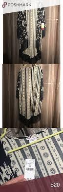 Brand New Ikat Print Kimono Cute