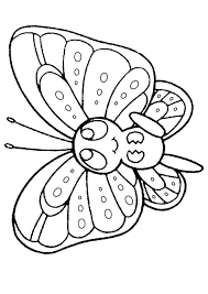 Free Online Printable Kids Colouring Pages - Baby Butterfly ...