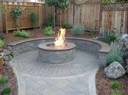 Modern Patio Designs With Fire Pit Veneer More Simple Design