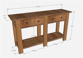 diy sofa table ana white. Ana White Sofa Table Best Of Build A Benchwright Console Diy R