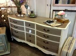 two tone painted furniture. Two Toned Dresser French Provincial Painted With Chalk Paint Tone Furniture