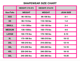 Sizing Chart Cali Curves Colombian Fajas