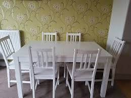ikea bjursta extendable dining table white with 6 chairs seats 10
