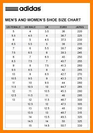 adidas sizing chart adidas shoe size chart world of charts