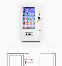 Vending Machine Dimensions Enchanting Android Operated Vending Machine 48 Large Touch Screen Kvmg48t48