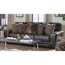 classic steel gray leather sofa denali