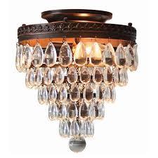 allen roth eberline 9 06 in w oil rubbed bronze flush mount light
