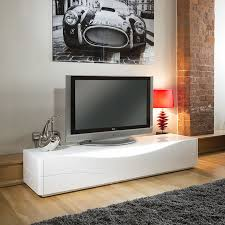 luxury modern tv stand  cabinet  unit white gloss led lighting
