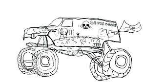 Grave Digger Color Pages Printable Warm Grave Digger Coloring Pages