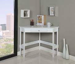 modern white painted oak wood corner desk with storage drawer beautiful corner desk with drawers