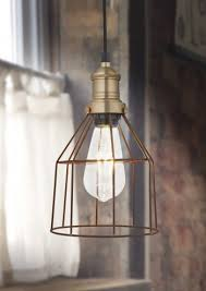 vintage looking lighting. simple vintage rusty cage wire pendant light by industville cone looking lighting