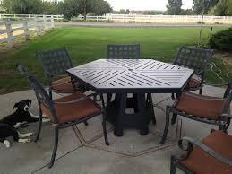 image of hexagon patio table ideas