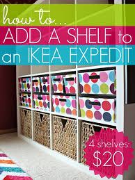 how to add a shelf to an ikea expedit 4 shelves for only 20
