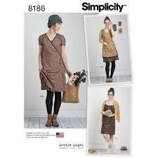 Simplicity Pattern: <b>S8186</b> Misses' Dottie Angel Frock: Wrap & Slip ...