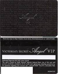 victoria secret credit card number