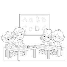 Kinderen In De Klas Kleurplaat