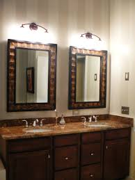 silver brushed metal frame wall mirror