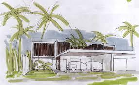Villa Sketch Design Beach Villa Sketch Interior Design Ideas