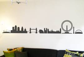 London Wallpaper For Bedrooms London Skyline Wall Sticker For Sale At Bouf