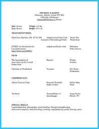 Example Actor Resume - Template
