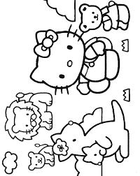 Hello Kitty Da Colorare Per Bambini Con Colorare I Personaggi Dei