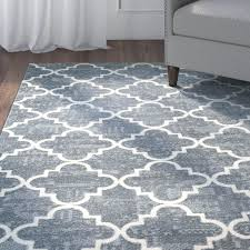 grey and white rugs red barrel studio fancy trellis gray white area rug reviews black grey white rugs