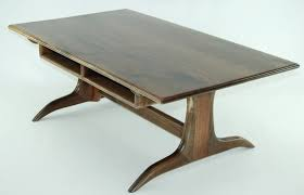 beautiful trestle coffee table with walnut trestle coffee table finewoodworking