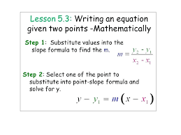 linear equation from two points math 2 lesson math solver calculator