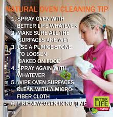 Natural Oven Cleaning Tip - Better Life Maids Green House Cleaning Tips