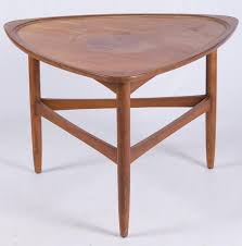 mid century guitar pick side table by bremo auctions 333152 bidsquare