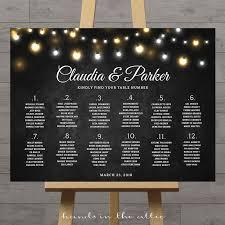 Fairy Lights Wedding Seating Chart In 2019 Wedding