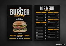 Restaurant Menus Layout Burger Restaurant Menu Layout Buy This Stock Template And