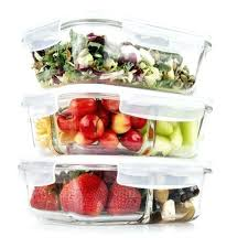 1 2 3 compartment glass meal prep food storage containers with lids oz uk