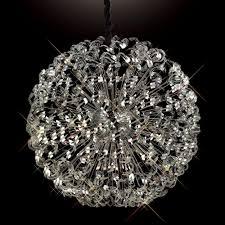 diyas esme huge 1 2 meter diameter ceiling pendant chrome crystal sphere