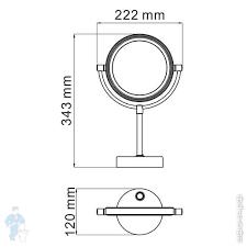 <b>Зеркало</b> для ванной <b>косметическое WasserKRAFT K</b>-<b>1005</b> ...