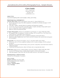 Photographer Resume Resume Template