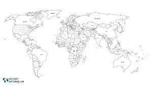 World Map Black And White Printable With Countries Printable World Map For Kids With Countries Names X Pixels Of Africa