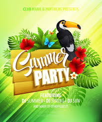 Green Party Flyer Summer Party Flyer Green Style Vector Free Vector In